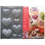 """Fimo аксесоари - Глинени формички, мотиви """"Сърца"""""""