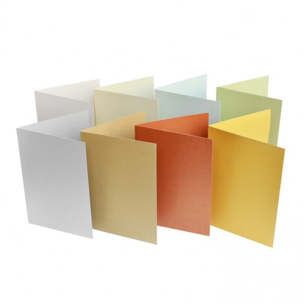 Слънчоглед картонче за картичка А6 перлен картон, 25бр от един цвят
