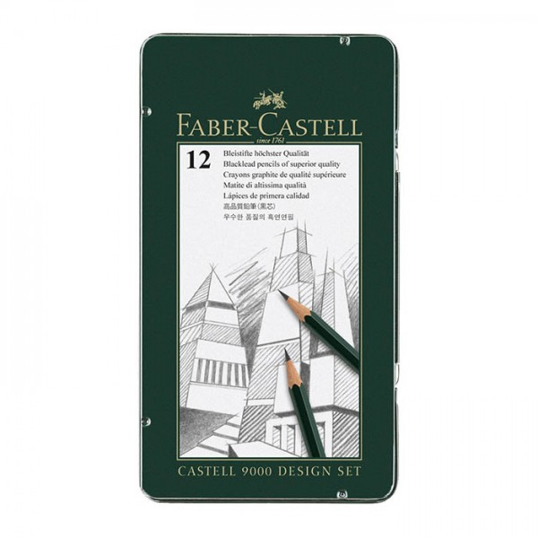 Графитен молив CASTELL 9000 Design Set - Faber Castell