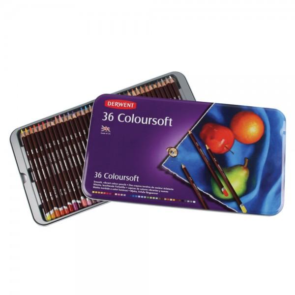 Derwent цветни моливи Coloursoft комплект 36 цвята