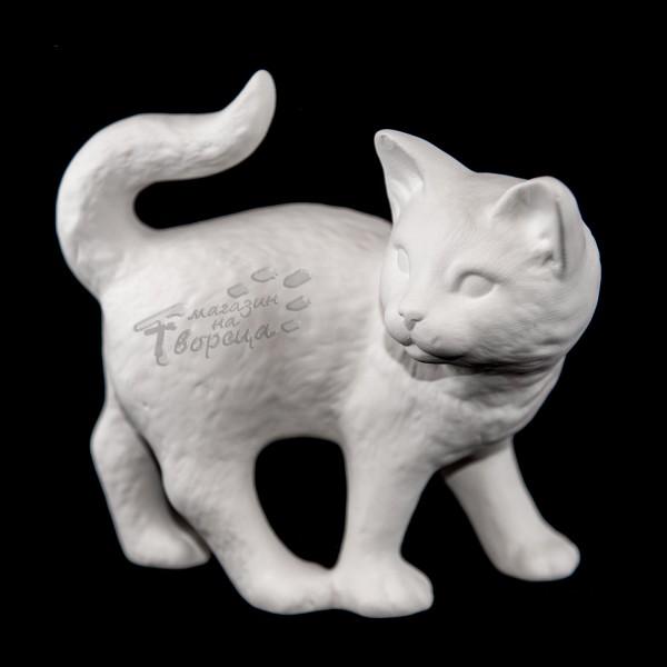 Керамична фигура - Котка на четири лапи с гл. назад