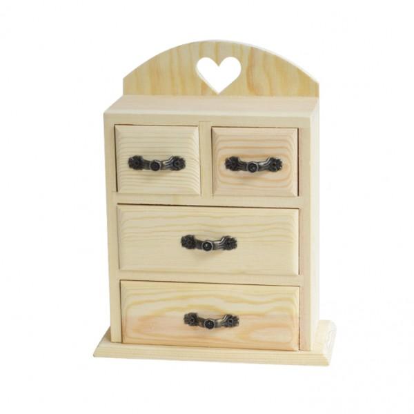 Chenfei 1088 шкафче 4 чекмеджета и сърце 16*20*8 cm