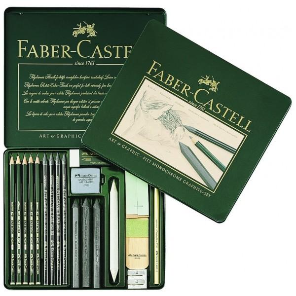 Графичен комплект Art & Graphic PITT 18 части - Faber Castell