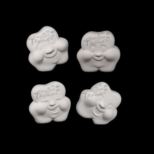 Керамична фигура - 4 детелинки с лица