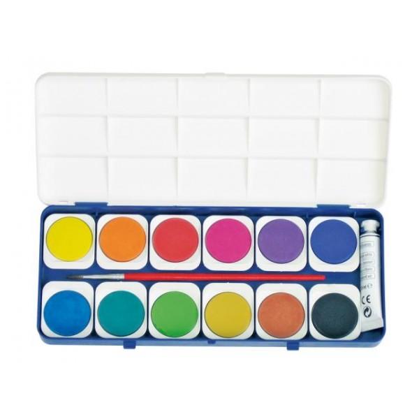 Комплект акварелни бои Primo 12 цвята 30 мм