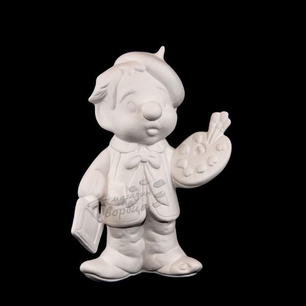 Керамична фигура - Момче художник