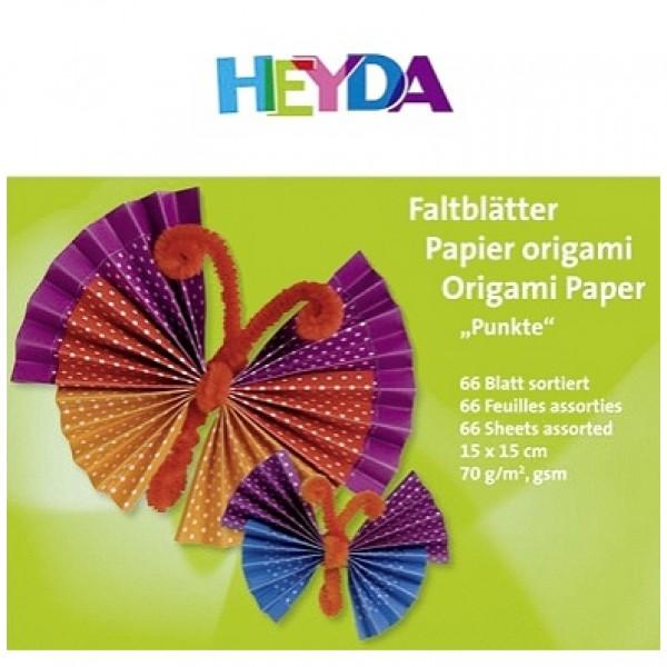 Heyda хартия Origami Точки 75552, 15*15 cm