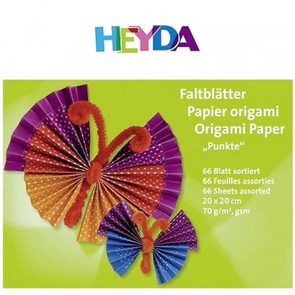Heyda хартия Origami Точки 75562, 20*20 cm