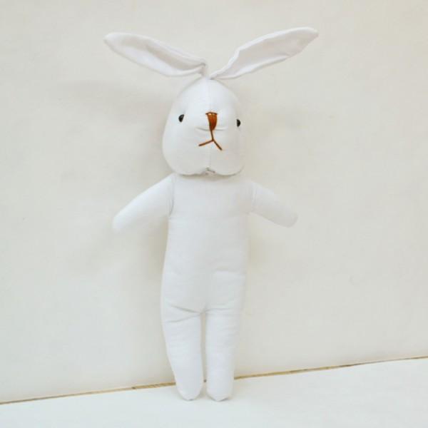 Твореца текстил бял заек 25 cm
