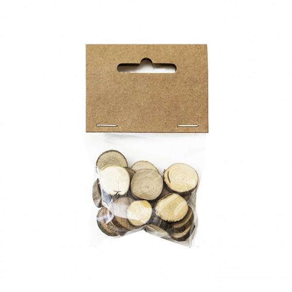 Natural мозайка wood кръгче 15-25 mm, 20g