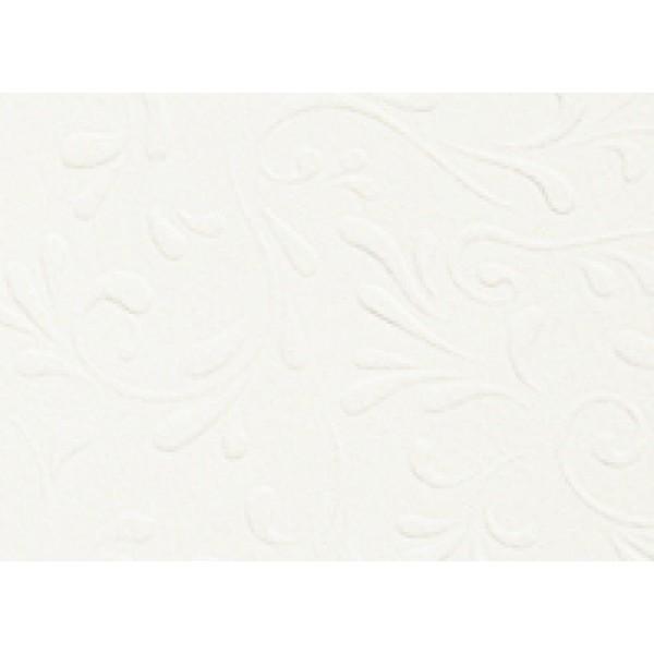 Heyda картон с релеф Embossed А4 220g, 5 листа - Roma 15-бял