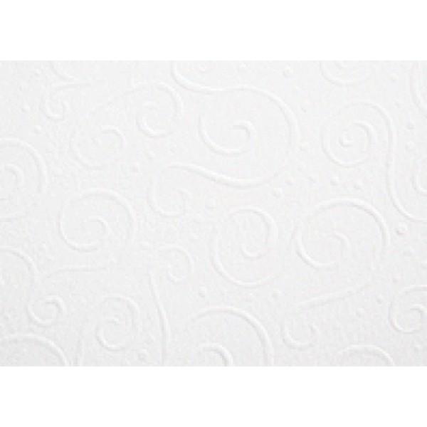 Heyda картон с релеф Embossed А4 220g, 5 листа - Milano 25-бял