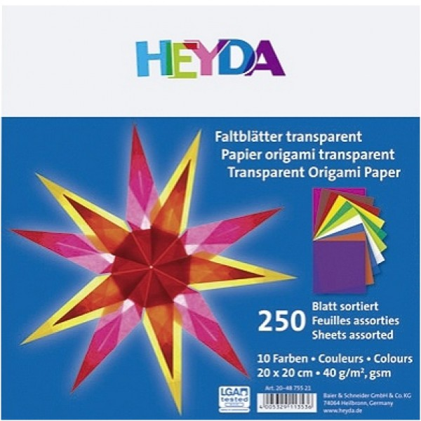 Heyda паус Origami 20*20 cm, 250 л