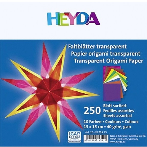 Heyda паус Origami 15*15 cm, 250 л
