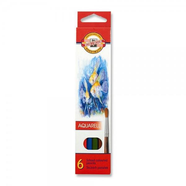 KOH-I-NOOR - Акварелни моливи 6 цв