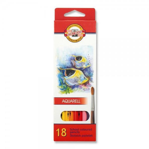 KOH-I-NOOR - Акварелни моливи 18 цв