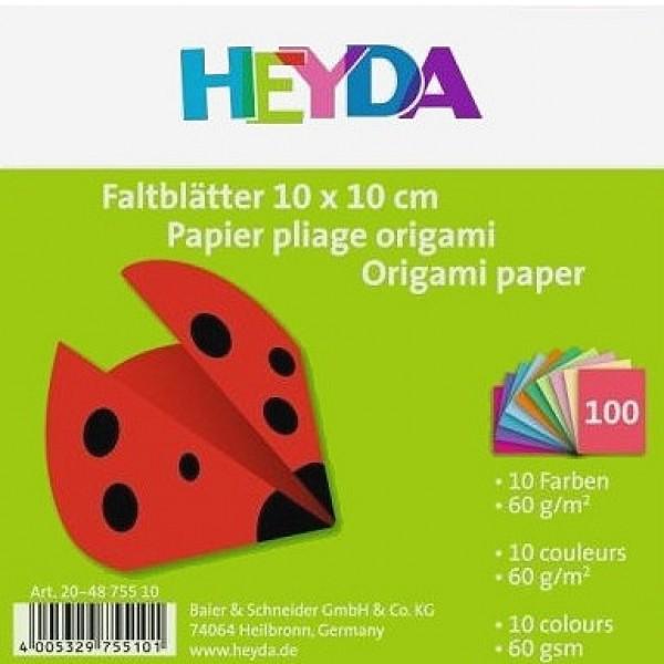 Heyda хартия Origami Едноцветни 75510, 10*10 cm