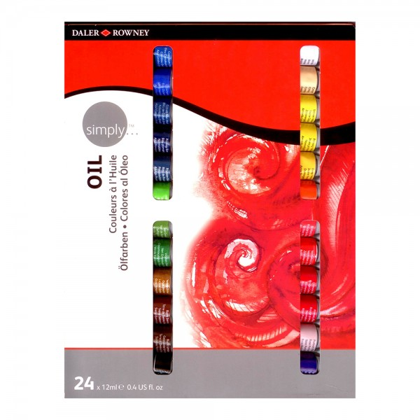 Daler Rowney маслена боя Simply комплект 24 цвята*12 мл