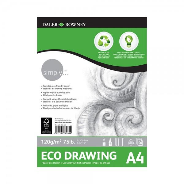 Daler Rowney скицник Simply Рисувателен Eco A4 120g, 50л