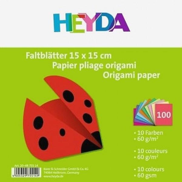 Heyda хартия Origami Едноцветни 75514, 15*15 cm