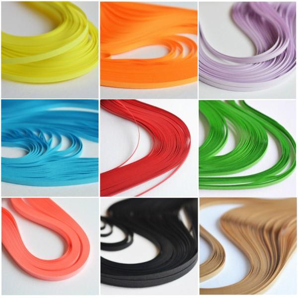 Quilling лентички 140 броя, 6mm - различни цветове