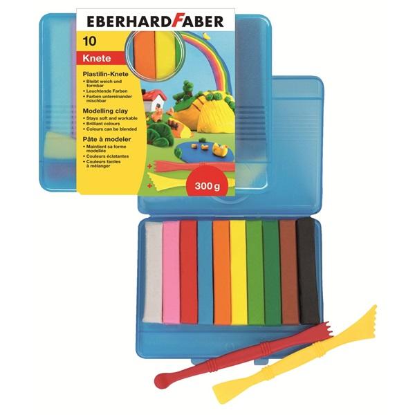Пластелин 10 цв. пл. кутия + 2 инструмента - Eberhard Faber