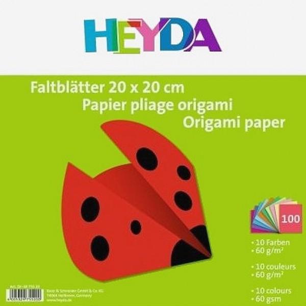 Heyda хартия Origami Едноцветни 75520, 20*20 cm