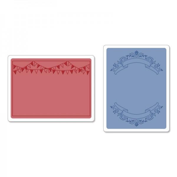 Папки за релеф 2бр - Sizzix - Mini Banners Set by Jen Long-Philip