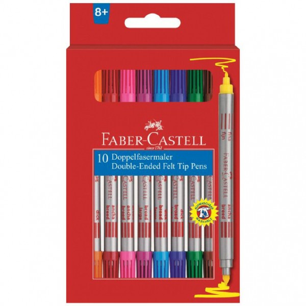 Флумастери двувърхи - Faber Castell