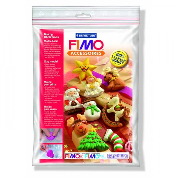 """Fimo аксесоари - Глинени формички, мотиви """"Весела Коледа"""""""