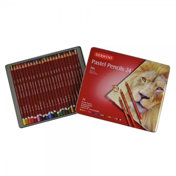 Derwent пастелен молив комплект 24 цвята
