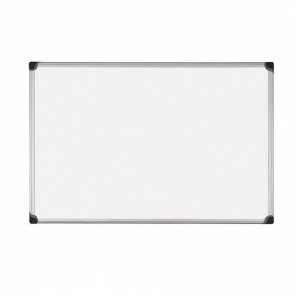 Бяла дъска с алуминиева рамка обикновена - 60x90см
