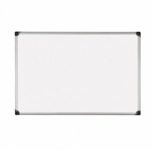 Бяла дъска с алуминиева рамка обикновена - 90x120см