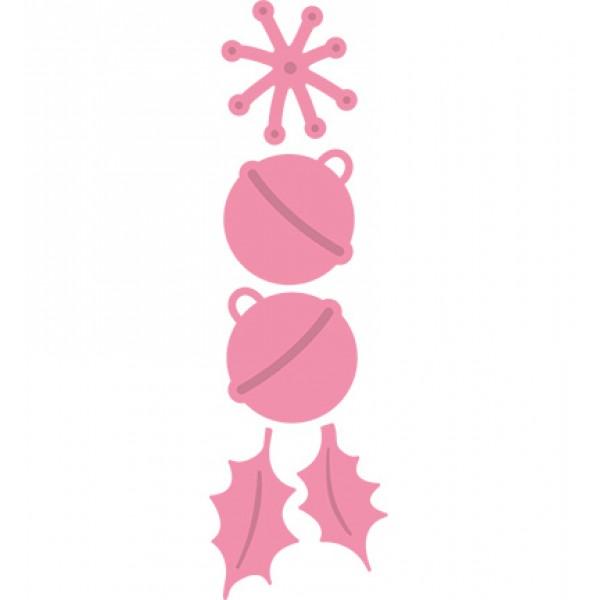 Универсални шаблони за изрязване и релеф 5бр - Collectables - Jingle Bells