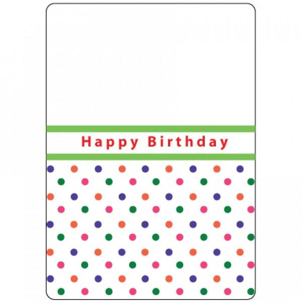 Папка за релеф - 10.5x15cm - Happy Birthday