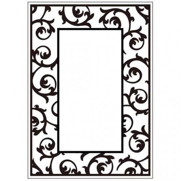 Папка за релеф - 10.5x15cm - Scrollwork Frame