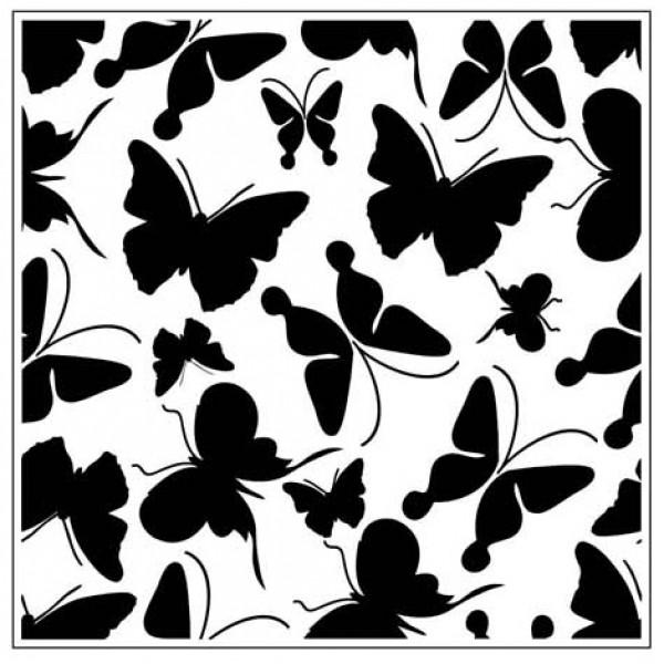 Папка за релеф - 14x14cm - Solid Butterflies Square