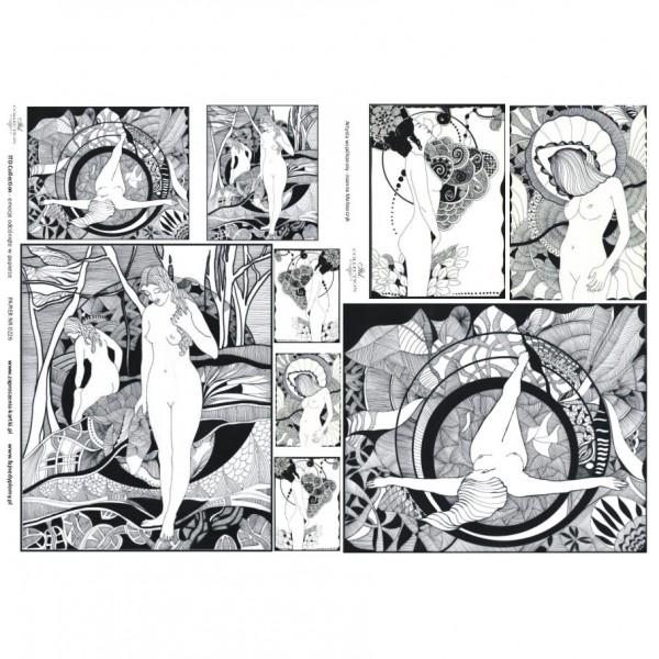 Хартия за декупаж - A3 Classic 60gr - ITD Collection D0226