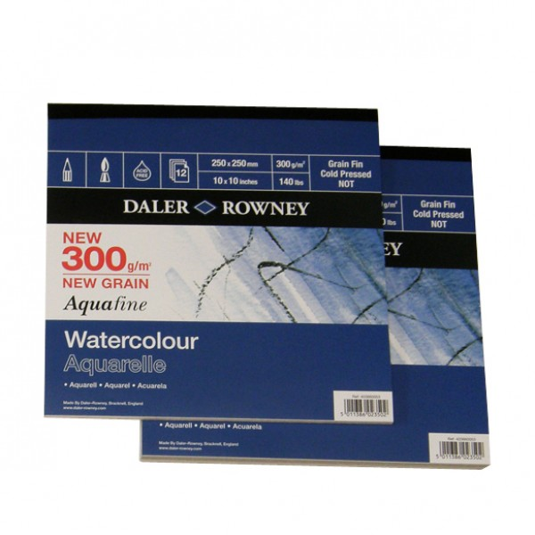 Daler Rowney скицник Aquafine 25*25 cm 300 g, 12 л
