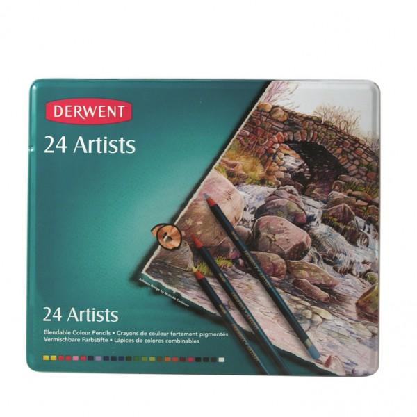 Derwent цветни моливи Artist комплект 24 цв