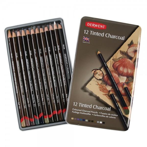 Derwent комплект Въгленов молив с Пигмент 12 цв