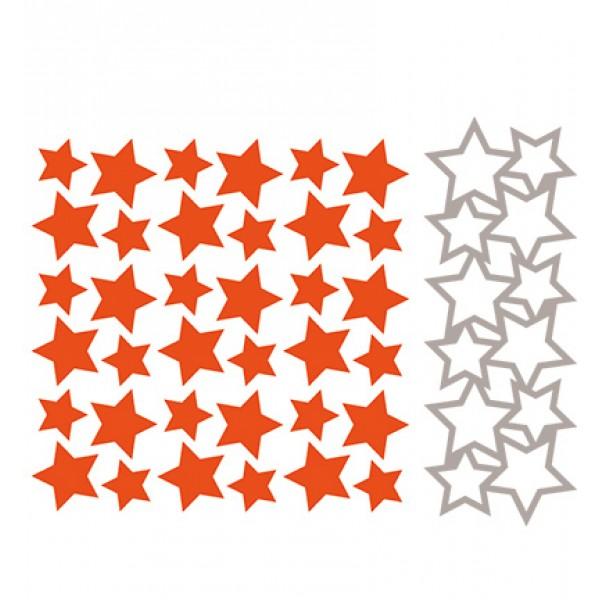 Папка за релеф 14.5x14.5cm в комплект със щанца - Marianne design - Stars