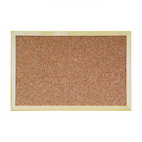 Коркова дъска с дървена рамка - 90х120см