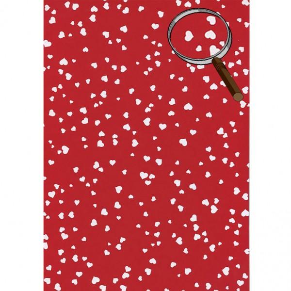Heyda картон Сърца А4, бели-червен фон
