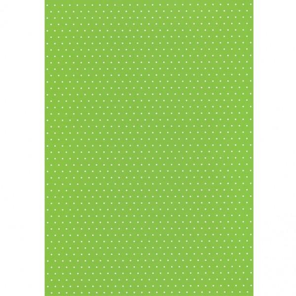 Heyda картон Happy Papers A4 06-точки св. зелен