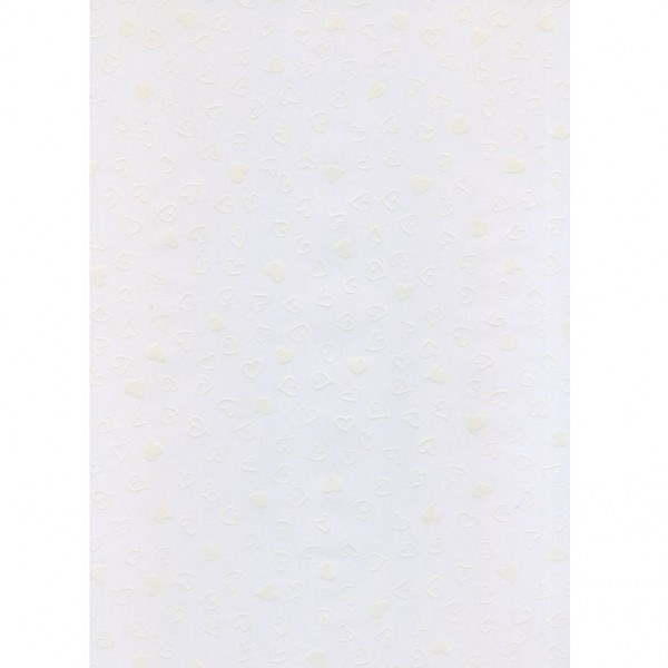 Heyda паус с мотиви A4, 61-Сърца бял