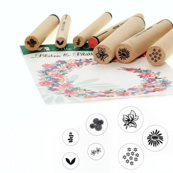 Heyda печати 7 бр - 45-Цветя и листа