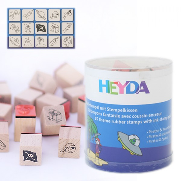 Heyda печати 15+1 бр - 86-Пирати и космонавти