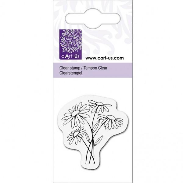 KPC печат силиконов 1015, 4 маргаритки, 5х6 cm