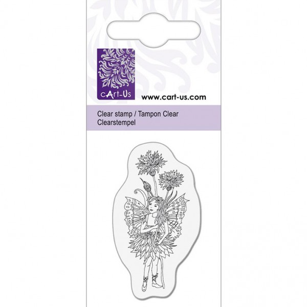 KPC печат силиконов 1054, елф с цветя, 5х6 cm